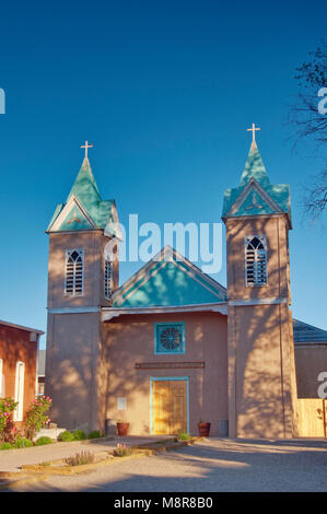 Santuario de San Lorenzo Church in Bernalillo, New Mexico, USA - Stock Image