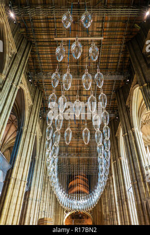 Under an Equal Sky,by,Philip Baldwin and Monica Guggisberg,To Mark the End of the First World War,Canterbury Cathedral,Canterbury,Kent - Stock Image