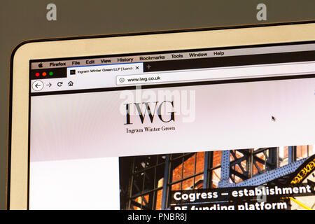 Ingram Winter Green LLP, IWG, London City Law Firm, law firms, UK, London, IWG solicitors, IWG litigation, website, online, homepage, - Stock Image