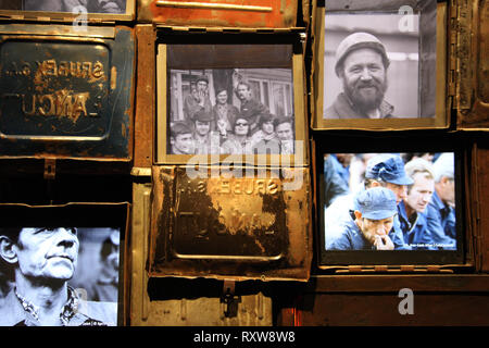 Exhibit at the European Solidarity Centre in gdansk - Stock Image
