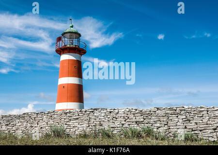 Närsholmen Lighthouse, Gotland, Sweden - Stock Image