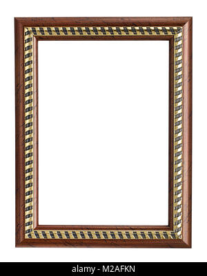 wood picture frame - Stock Image