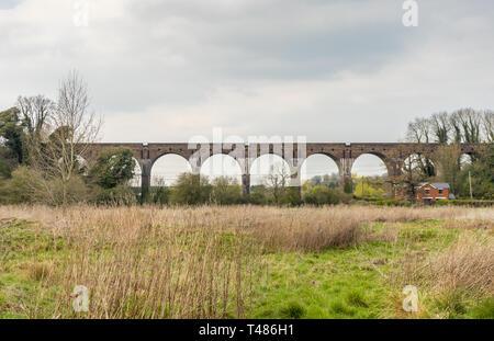 Hurstbourne Railway Viaduct in Hurstbourne Priors, Hampshire, England, UK - Stock Image