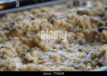 italian rice dish risotto - Stock Image