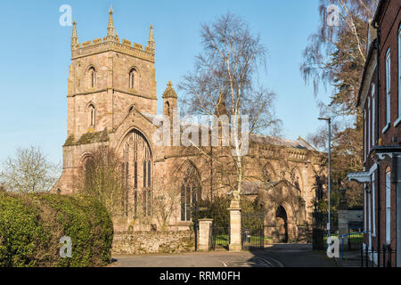 Leominster Priory (St Peter and St Paul), Herefordshire, UK. A twelfth century Norman church with later additions - Stock Image