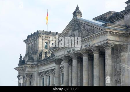 Germany, Berlin. Close-up of Reichstag building. Credit as: Wendy Kaveney / Jaynes Gallery / DanitaDelimont.com - Stock Image