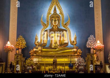 Grand Buddha of the Marble Temple, Bangkok, Thailand. - Stock Image