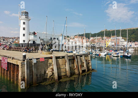Lighthouse and Inner Harbour. - Stock Image
