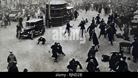 Photograph taken during the 1932 protests against cuts in Unemployment Benefits. Dated 20th century - Stock Image