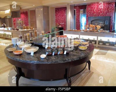 Breakfast buffet at the St. Regis Hotel, Beijing CN - Stock Image