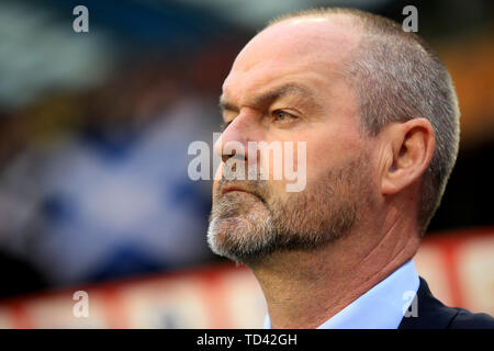 Scotland manager Steve Clarke before the UEFA Euro 2020 Qualifying, Group I match at the King Baudouin Stadium, Brussels. - Stock Image