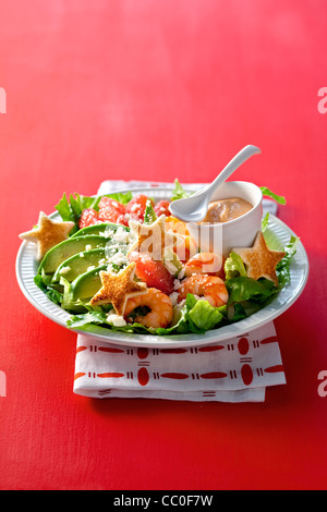 California Salad with Cocktail Sauce - Stock Image