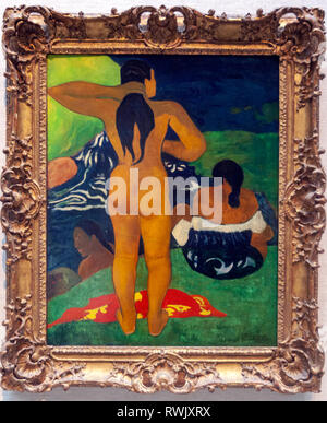 Paul Gauguin, 'Tahitian Women Bathing, The Metropolitan Museum of Art, Manhattan, New York USA - Stock Image