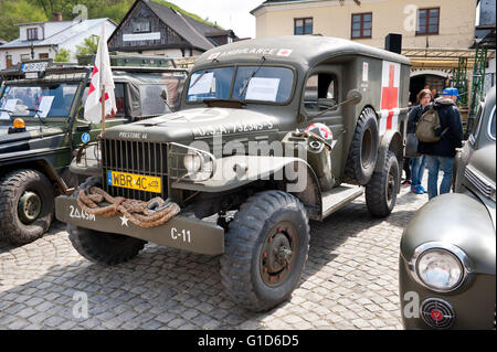 Prestone 44 army vehicle at Rally VI military vehicles from World War II in Kazimierz Dolny, antique cars event - Stock Image