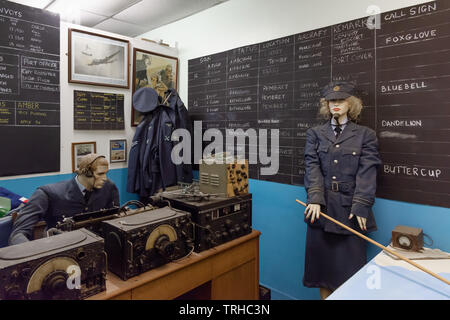 RAF Control Room, Wales, UK - Stock Image