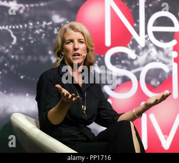 Film-maker Rory Kennedy revisits NASA's extraordinary achievements and looks to the future, on the Cosmos Stage, at New Scientist Live - Stock Image
