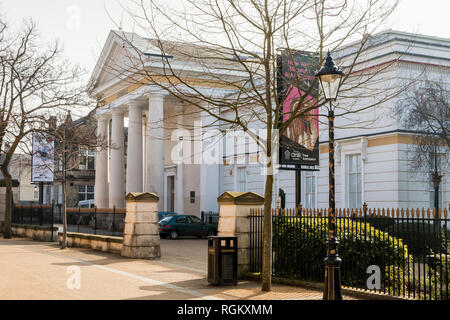 New Walk Museum and Art gallery on New Walk in Leicester, England, UK - Stock Image