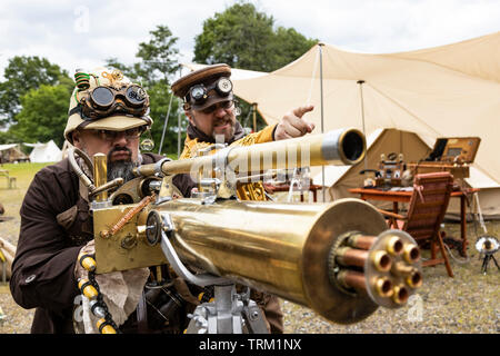 Dortmund, Germany. 8 June 2019. Zeche Zollern, a former colliery, hosts the steampunk and fun fair festival Once Upon a Time with runs until 10 June 2019. - Stock Image