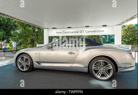 Turin, Piedmont, Italy. 22nd June 2019. Italy Piedmont Turin Valentino park Auto Show 2019 - Bentley New Continental GT Convertible Credit: Realy Easy Star/Alamy Live News Credit: Realy Easy Star/Alamy Live News - Stock Image