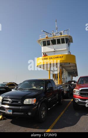 The Galveston-Port Bolivar ferry, Texas, USA - Stock Image