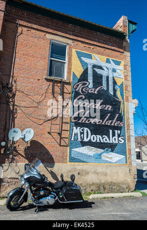 Historic Ghost Sign in Rural Utah Town of Coalville - Stock Image