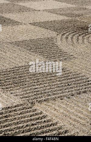 USA, Oregon, Portland. Zen patterns in sand. Credit as: Wendy Kaveney / Jaynes Gallery / DanitaDelimont.com - Stock Image