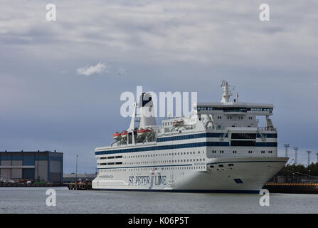 MS Princess Maria, St Peter Line, moored in Helsinki - Stock Image