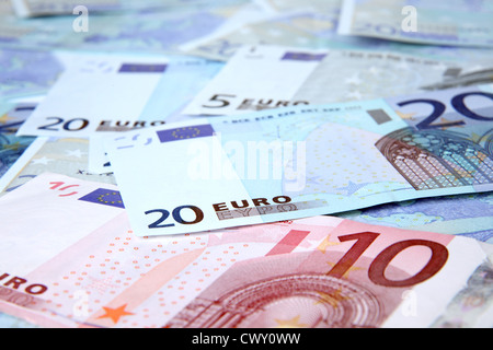 €10 and €20 Euro Notes. - Stock Image