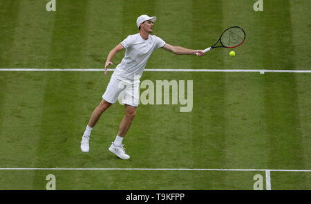 Jamie Murray on No.1 court at The All England Lawn Tennis Club, London. - Stock Image