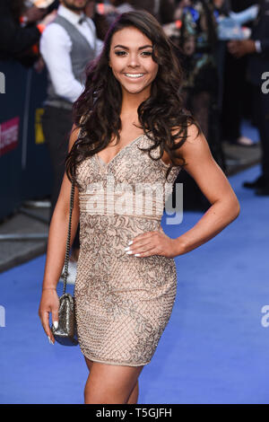 London, UK. 24th Apr, 2019. LONDON, UK. April 24, 2019: Vanessa Bauer arriving for the 'Extremely Wicked, Shockingly Evil And Vile' premiere at the Curzon Mayfair, London. Picture: Steve Vas/Featureflash Credit: Paul Smith/Alamy Live News - Stock Image