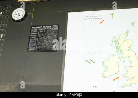 Liverpool Exchange Flags Western Approaches HQ WWII Second World War Derby House museum bunker Citadel Fortress Citadel or Fortress map British Isles - Stock Image