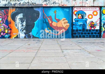 Street Art in Vilnius, Lithuania - Stock Image