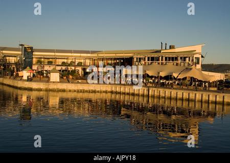 south africa garden route Knysna harbor restaurants - Stock Image