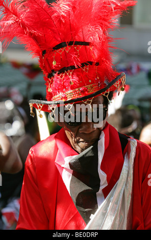 Carnival Figure in the Notting Hill Carnival Parade 2009 - Stock Image