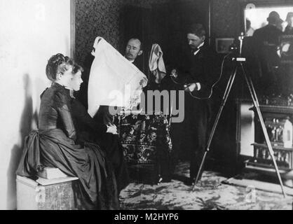 Photographer Studio, 1890 - Stock Image