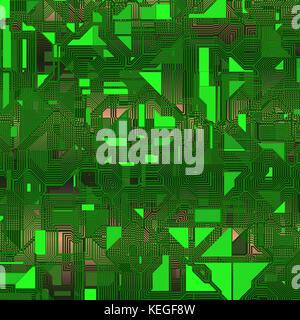 Electronic circuit background - Stock Image