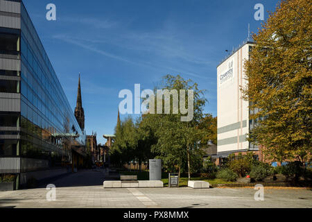 Coventry University The Hub and George Eliot building in Coventry city centre UK - Stock Image