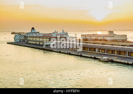 Cruise terminal late afternoon, Dubrovnik, croatia, - Stock Image