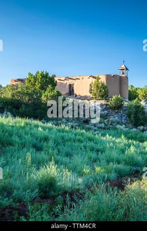 House/church of the 'Penitentes', Rancho de Las Golondrinas, Santa Fe, New Mexico USA - Stock Image