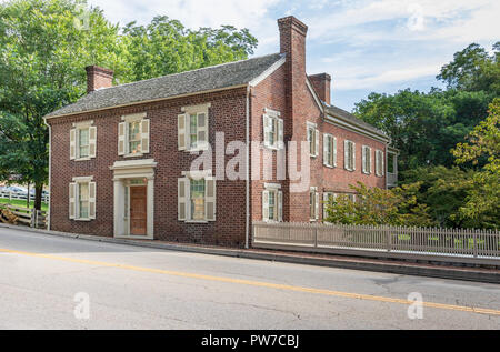Greeneville, TN, USA-10-2-18: The Greek Revival home President Andrew Johnson lived in after returning from Washington. - Stock Image