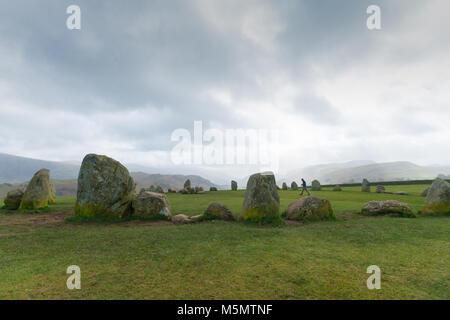 Castlerigg Stone Circle, Keswick, Cumbria. UK - Stock Image