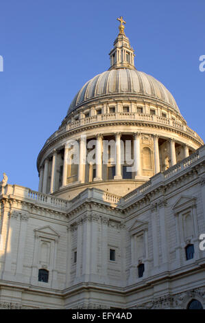 The dome of St Paul's Cathedral, London. - Stock Image