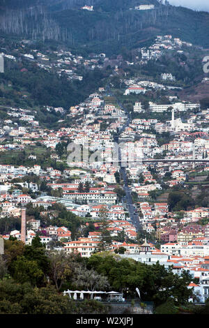 Portugal, Madeira Island, Funchal, cityscape from the rooftop of Design Centre - Stock Image