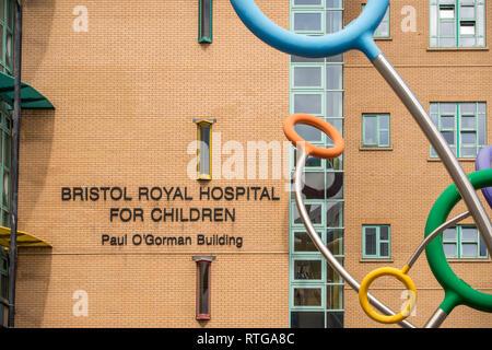 Bristol Royal Hospital for Children, Paul O'Gorman Building, Bristol, UK - Stock Image