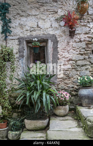 Impressions And Details From The Small Ligurian Village Of Apricale - Stock Image