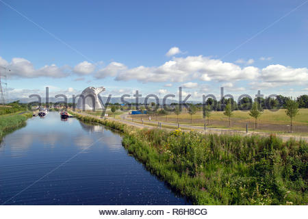 The Kelpies in Falkirk, Stirlingshire, Scotland, UK. - Stock Image
