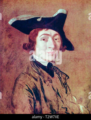 Thomas Gainsborough (1727–1788), Self Portrait, 1754 - Stock Image