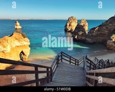 Steps to the sea - Stock Image