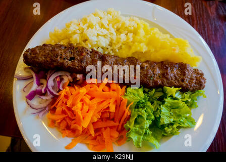Adana kebabi, Belgrade, Serbia - Stock Image