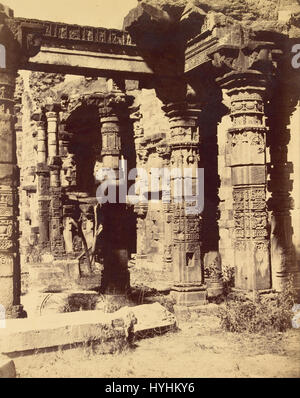 Charles Moravia (British   (Exterior of the Hindu Temple in Kootub)   Google Art Project - Stock Image